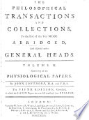 Philosophical Transactions And Collections : ...