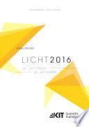 LICHT 2016 : Karlsruhe, 25. - 28. September ; Tagungsband - Proceedings ; [22. Gemeinschaftstagung = 22nd Associations' Meeting]