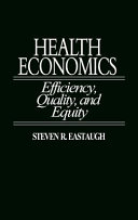 Health Economics : the present status and future direction of...