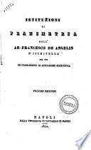 Istituzioni di planimetria  di  Francesco De Angelis