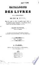 Catalogue de vente des livres de T     le 22 mai 1834