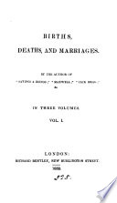 Births  deaths  and marriages  by the author of  Sayings   doings