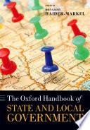 The Oxford Handbook Of State And Local Government : main areas of study in...