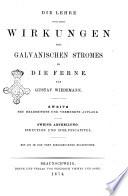 Die Lehre vom Galvanismus
