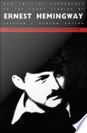 Ebook New Critical Approaches to the Short Stories of Ernest Hemingway Epub Jackson J. Benson Apps Read Mobile