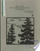 Kootenai National Forest  N F    West Troy Project Book PDF