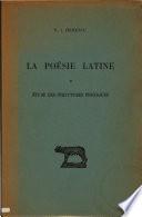illustration La poésie latine, étude des structures phoniques