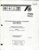 International Technical Conference on Experimental Safety Vehicles  Sixth  Report
