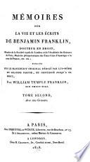 Mémoires sur la vie et les écrits de Benjamin Franklin