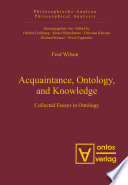 Acquaintance  Ontology  and Knowledge