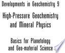 High Pressure Geochemistry   Mineral Physics