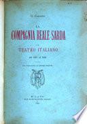 La Compagnia reale sarda e il teatro italiano dal 1821 al 1855