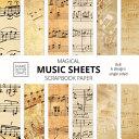 Magical Music Sheets Scrapbook Paper