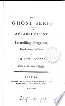 The ghost seer  or  apparitionist  From the Germ   abridged and tr  by D  Boileau