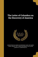 LETTER OF COLUMBUS ON THE DISC