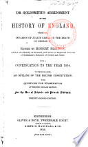Dr  Goldsmith s Abridged History of England  to which is added  a continuation     to June 1820  Written purposely for this edition  by J  Bigland