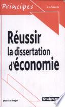 illustration Réussir la dissertation d'économie