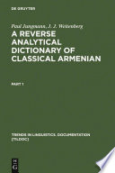 A Reverse Analytical Dictionary of Classical Armenian