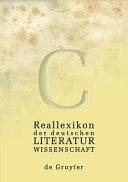 Reallexikon der deutschen Literaturwissenschaft: P-Z