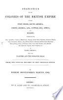 Statistics of the Colonies of the British Empire ...