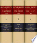 General Statutes Of New Jersey