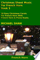 French Horn  Christmas Sheet Music For French Horn   Book 3