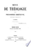 Revue de th  ologie et de philosophie chr  tienne