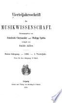 Vierteljahrsschrift für musikwissenschaft