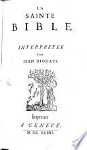 La sainte bible interprétée par J. Diodati