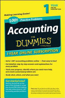 1 001 Accounting Practice Problems For Dummies Access Code Card  1 Year Subscription