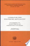 Literatur und politische Aktualität