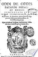 Oddi de Oddis ... In primam, & secundam Aphorismorum Hippocratis sectionem elaboratissima, & lucidissima expositio