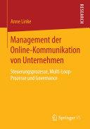 Management der Online-Kommunikation von Unternehmen