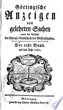 Göttingische gelehrte Anzeigen