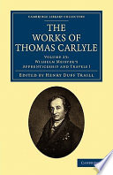 The Works of Thomas Carlyle  Volume 23  Wilhelm Meister s Apprenticeship and Travels I