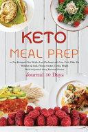 Keto Meal Prep Journal 30 Days