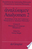 Analy  men 2  Philosophy of language  metaphysics