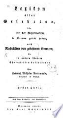 Lexikon aller Gelehrten, die seit der Reformation in Bremen gelebt haben