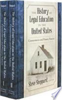 The History of Legal Education in the United States