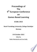 ECGBL2015-9th European Conference on Games Based Learning