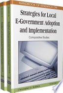 Handbook Of Research On Strategies For Local E Government Adoption And Implementation Comparative Studies