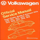 Volkswagen Super Beetle Beetle Karmann Ghia Official Service Manual