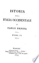 Istoria Della Italia Occidcentalle