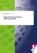 Capital Market Implications of Earnings Quality