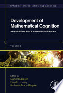 Development Of Mathematical Cognition book