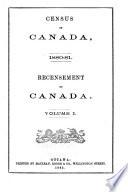 Census of Canada. 1880-81