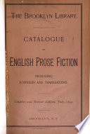 Catalogue of English Prose Fiction  Including Juveniles and Translations Book PDF