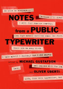 Notes from a Public Typewriter Book