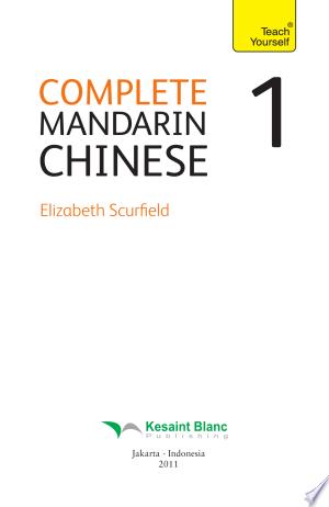Complete Chinese Mandarin Volume 1 - ISBN:9789795934837