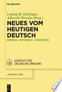 Neues vom heutigen Deutsch